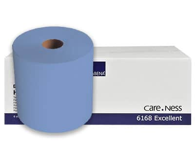 blauwe papier rollen