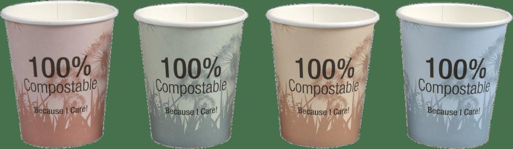 dandelion koffiebekers biologisch afbreekbaar